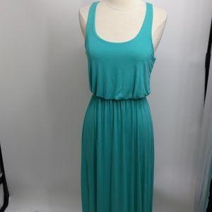Lush sleeveless knit aqua blue maxi dress-sz S